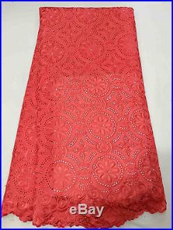 Swiss Voile Latest Luxury 100% Cotton Bridal Dress Lace Fabric 5 Yds Lot