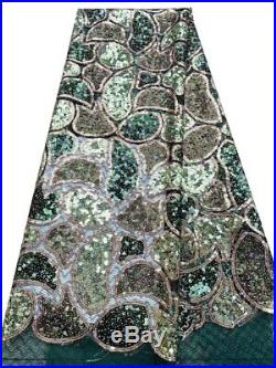 Unique Sequin Lace 5yards/lot African Lace Fabric Lace 2019 High Quality Glitter