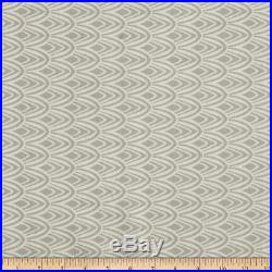 Uptown Fabric Richloom Upholstery Drapery Notus Flax Geometic Scales Grey