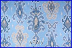 Uptown Fabric Richloom Upholstery Drapery Siam Horizon Blue Ikat Tribal