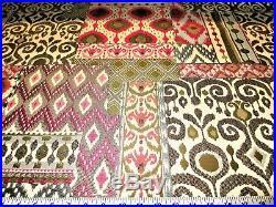 Uptown Fabric Upholstery Drapery Shangri La Rose Jacquard Geometric Ikat