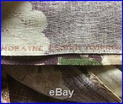 VTG fabric 16 yards lot floral 1940s 50s Morayne Avignon purple 48 Vat prints