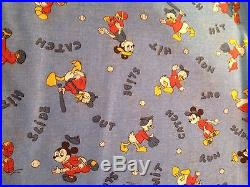 Very Rare lot of over 3 yards Vintage Disney Fabrics- Mickey Mouse Donald Duck