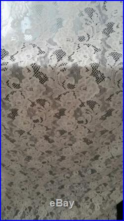 Vintage Design Flower Mesh Lace Fabric Cream (2) two 6 yard lots