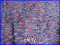 Vintage Fabric 1980's SILK from Japan Lot 3 pcs 12+ Yards Prints Blue Red Green