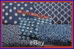 Whole Sale Lot Mix Fabric Indigo Blue Fabric 100 Yards Hand Block Print Fabric