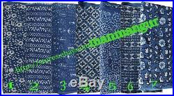 Wholesale Lots 35 Yards Fabric hand Block Print Indigo fabric Bagru Print fabric