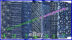 Wholesale Lots 50 yards Fabric hand Block Print Indigo fabric Bagru Print fabric