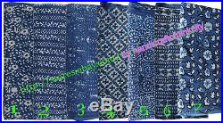 Wholesale Lots 66 yards Fabric hand Block Print Indigo fabric Bagru Print fabric