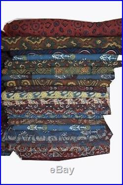Wholesale Lots Floral Print Block Print Fabric 100% lot 25 yards Fabric