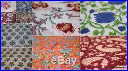 Wholesale Lots hand Block Print Indigo fabric Bagru Printed lot 100 yards Fabric
