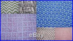 Wholesale lot 30 yards Indian Jaipur handmade natural sanganeri cotton fabric 08
