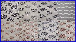 Wholesale lot 40 yards Indian Jaipur handmade natural sanganeri cotton fabric