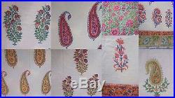 Wholesale lot 40 yards Indian handmade block print sanganeri cotton fabric 3