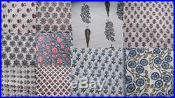 Wholesale lot 50 yards Indian Jaipur handmade natural sanganeri cotton fabric 07